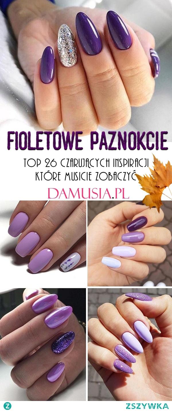 Fioletowe Paznokcie na Jesień – TOP 26 Czarujących