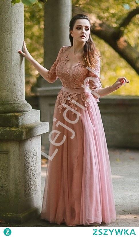 Fenomenalna sukienka Elena w kolorze pustynnego różu. Doskonała na wesele, na studniówkę czy na bal. lejdi.pl