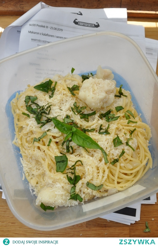 Dietetyczne spaghetti z parmezanem :)
