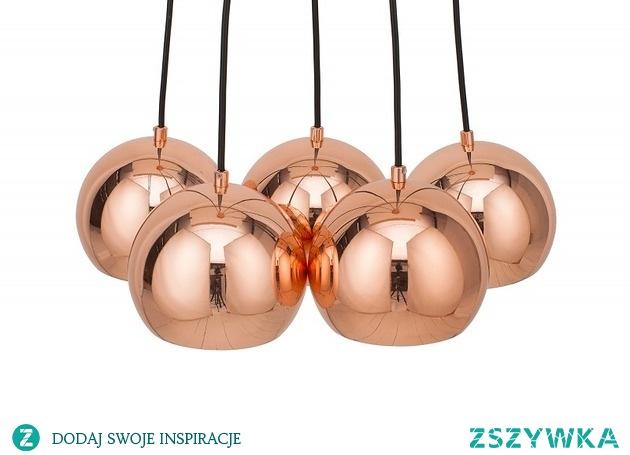 Lampa wisząca Ball różowe złoto 45cm