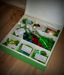 A to wnętrze pudełeczka ze Shrekiem i Fioną :)