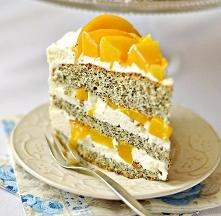 Маковый торт с персиками  И...