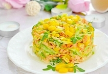 Легкий овощной салат на пра...