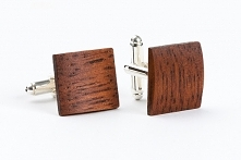 drewniane spinki do mankietów - merbau
