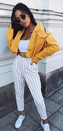 Letnia stylizacja ze spodni...