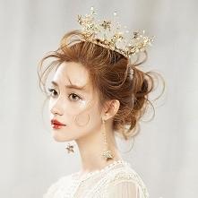 Piękne Złote Biżuteria Ślub...