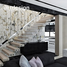 Jak zaprojektować schody widoczne z salonu, aby były ozdobą wnętrza? SOUL MATE | Wnętrza domu