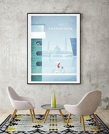 Kopenhaga - vintage plakat ...