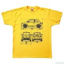 koszulka FIAT 500 NEW YELLO...
