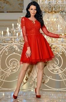 Bicotone Czerwona sukienka ...