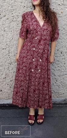pomysł na przeróbkę sukienki