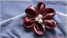 kwiatek z szala diy