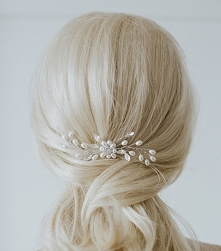 Ozdoba ślubna do włosów z p...
