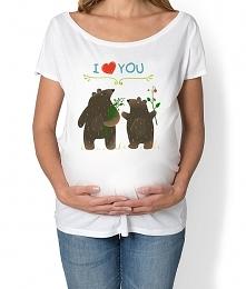 koszulka ciążowa. Zwierzęta...