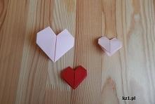 Serduszka z origami jako zakładka do książki.