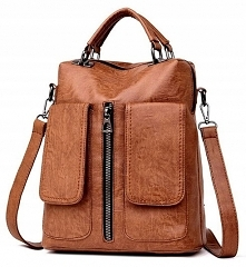 MODNY, SOLIDNY PLECAK TOREBKA 2W1    Plecak jest pakowny, posiada wygodne regulowane szelki, które można w taki sposób przełożyć, aby z plecaka powstała torebka!