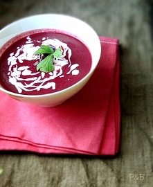 święty Walenty i różowa zupa
