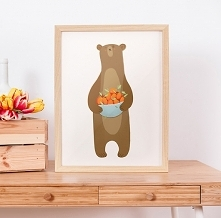 bear with appricots | poster