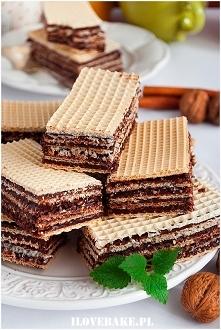 Domowe wafle kakaowe