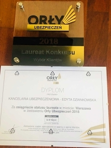Laureat Konkursu Orły Ubezp...