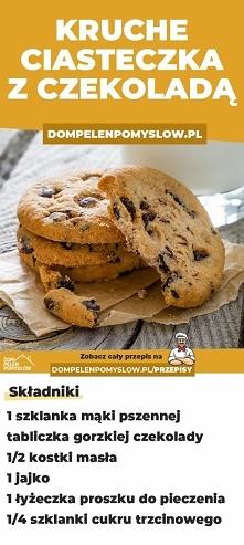 Przepis na kruche ciasteczka z czekoladą