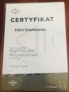 Certyfikat ukończenia szkolenia – Psychologia Przywództwa