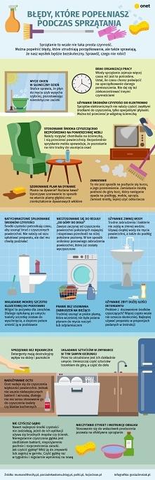 Błędy, które najczęściej popełniamy podczas sprzątania