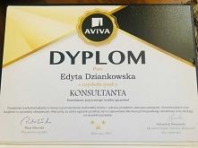 Dyplom uzyskania tytułu KONSULTANTA AVIVA