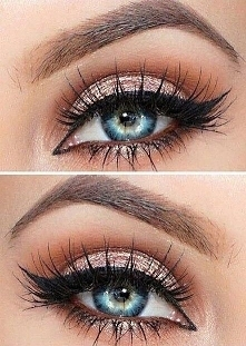 prom makeup looks blue eyes