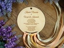 drewniane zaproszenia ślubn...
