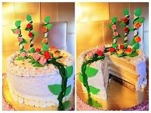Tort śmietankowy . Różany  ...