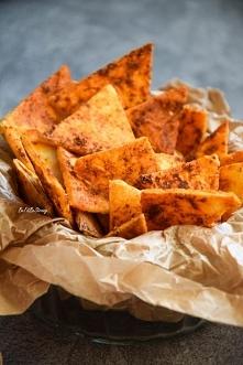 Domowe paprykowe nachos - najlepsza imprezowa przekąska. Przepis po kliknięci...