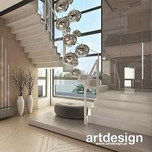 Nowoczesne białe schody dywanowe | POWER OF DESIGN | Wnętrza domu