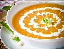 Zupa z dyni z jogurtem