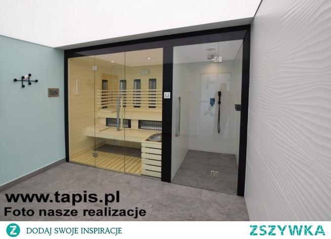 Domowe Wellness będące połączeniem sauny i kabiny prysznicowej. Sauna fińska, parowa i infrared w jednej kabinie. Producent: TAPIS.PL