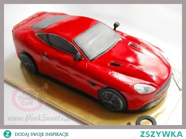 tort w kształcie samochodu Aston Martin