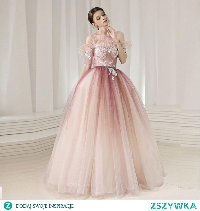Uroczy Rumieniąc Różowy Sukienki Na Bal 2020