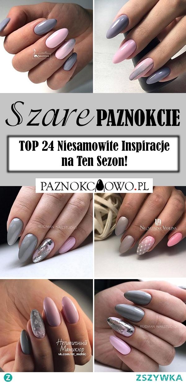 Szare Paznokcie na Jesień – TOP 24 Niesamowite Inspiracje na Ten Sezon!