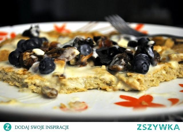 Owsiany omlet z borówkami :) Pyszota