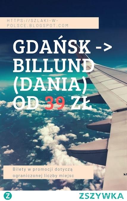 Gdańsk - Billund od 39 zł