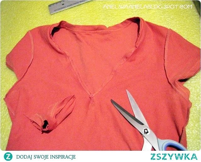 jak zrobić dekolt w bluzce