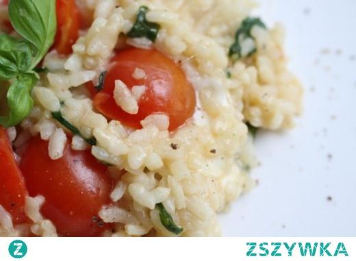 Cherry tomato, mozzarella and basil risotto