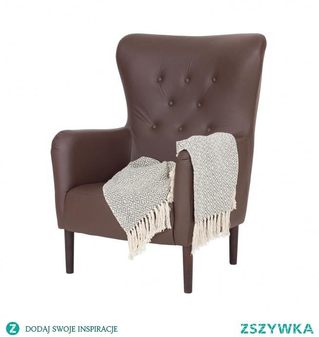 wygodny i stylowy fotel wykończony ekoskóra