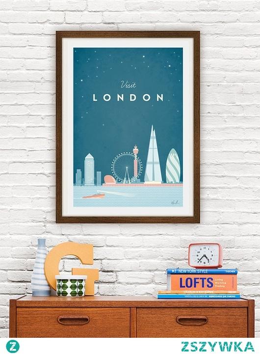 Londyn - vintage plakat 50x70 cm