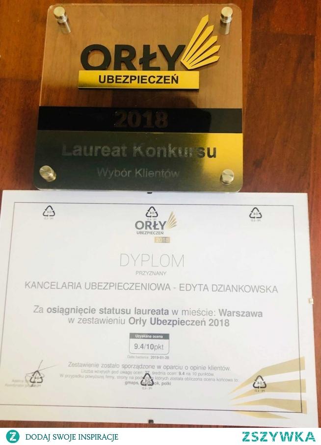 Laureat Konkursu Orły Ubezpieczeń