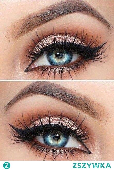prom makeup looks blue eyes