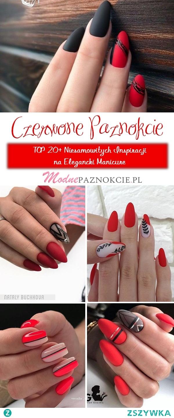 Czerwone Paznokcie w Kobiecym Wydaniu – TOP 20+ Niesamowitych Inspiracji na Elegancki Manicure