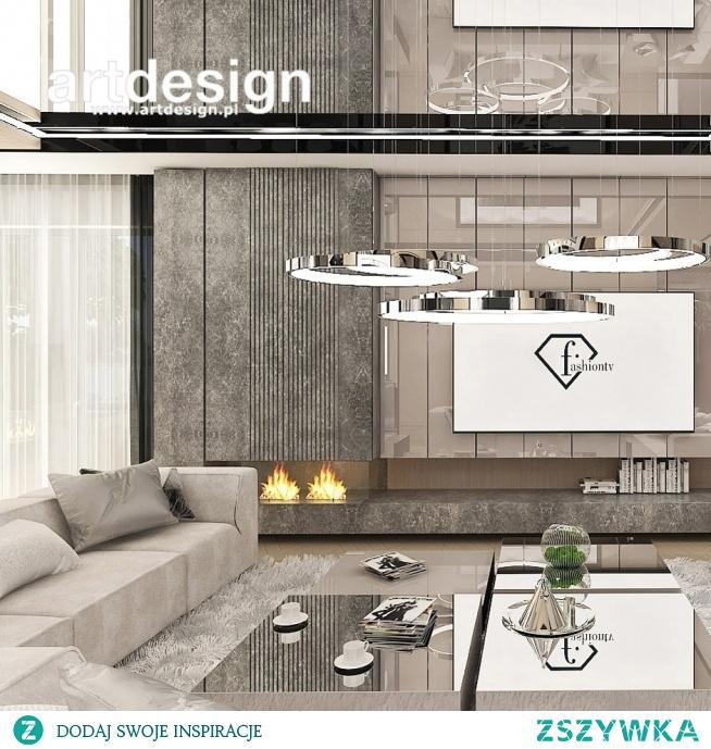 Aranżacja salonu w beżach, w nowoczesnym stylu | POWER OF DESIGN | Wnętrza domu