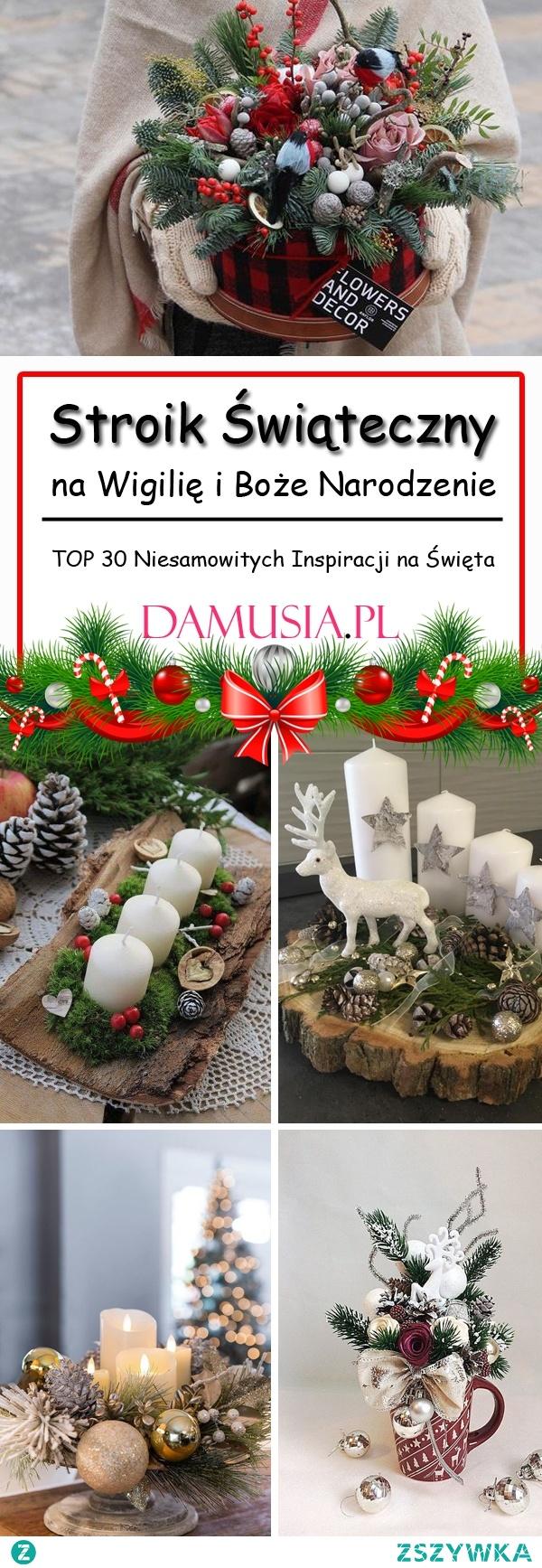 Stroik Świąteczny na Wigilię i Boże Narodzenie: TOP 30 Niesamowitych Inspiracji na Święta