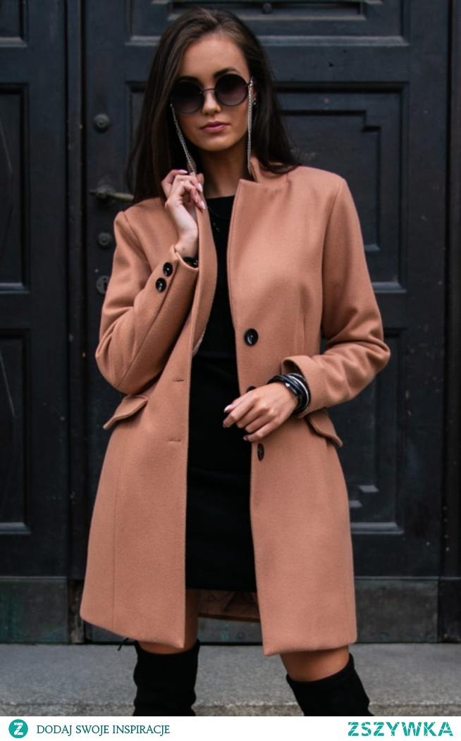 Wełniany płaszcz damski Roco Fashion